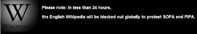 Wiki anti SOPA banner