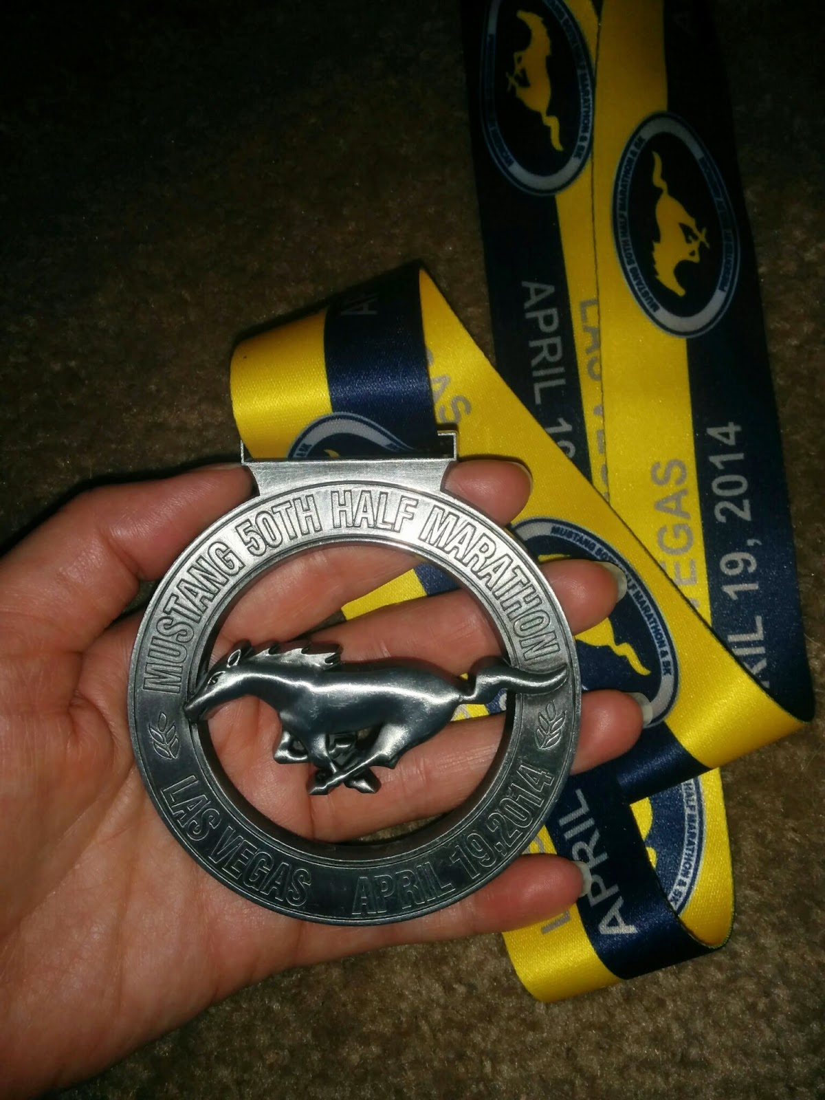 Mustang 50th Half Marathon Recap