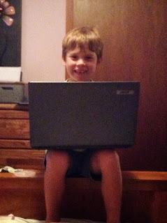 Jesse on the computer