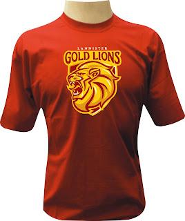 Camiseta Lannister Gold Lions