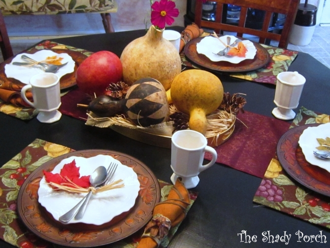 Fall Table Setting #tablesetting #tablescape #placesetting #centerpiece