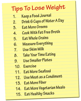 How to lose weight tips at home