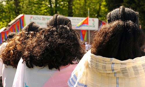 Traditional hair style from Eritrea photo by Wonderlane