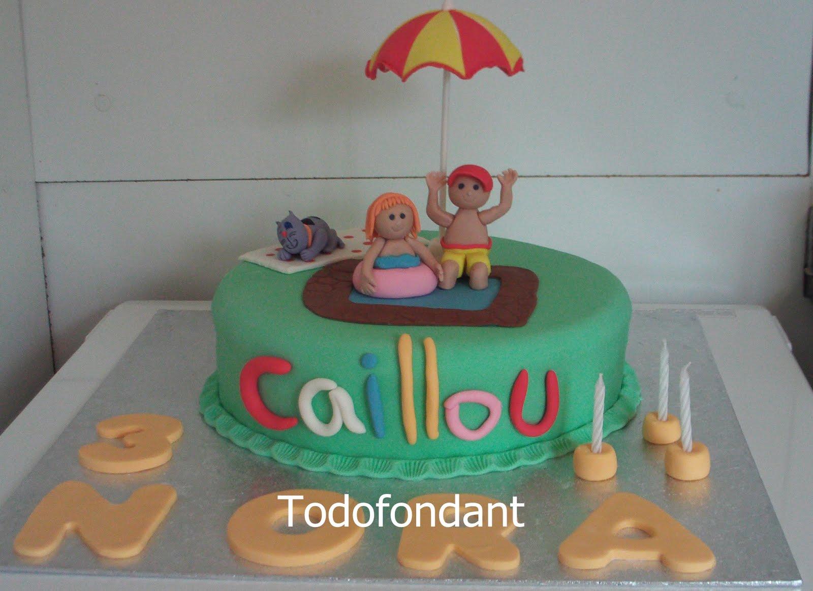 todofondant tarta caillou en la piscina decorada con fondant