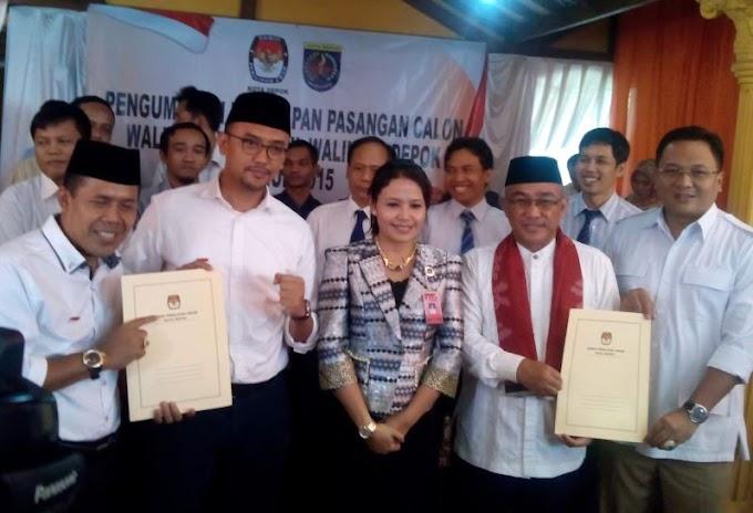 KPU Tetapkan Dua Paslon Depok Ikut Pilkada Serentak