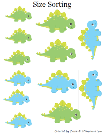 Part of the Dinosaur printables pack by 3 Dinosaurs, this is page 5-7 ...