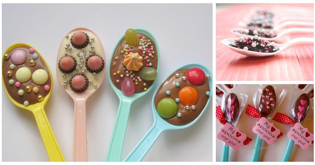 Cucharitas de chocolate decoracion en fiestas infantiles - Como hacer una fiesta infantil economica ...