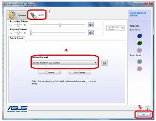 """<img source=""""pic.jpg"""" alt=""""Cara setting format audio bila kita menggunakan driver realtek.""""</img>"""