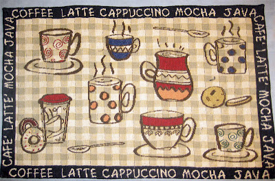 coffee placemat iPad cover