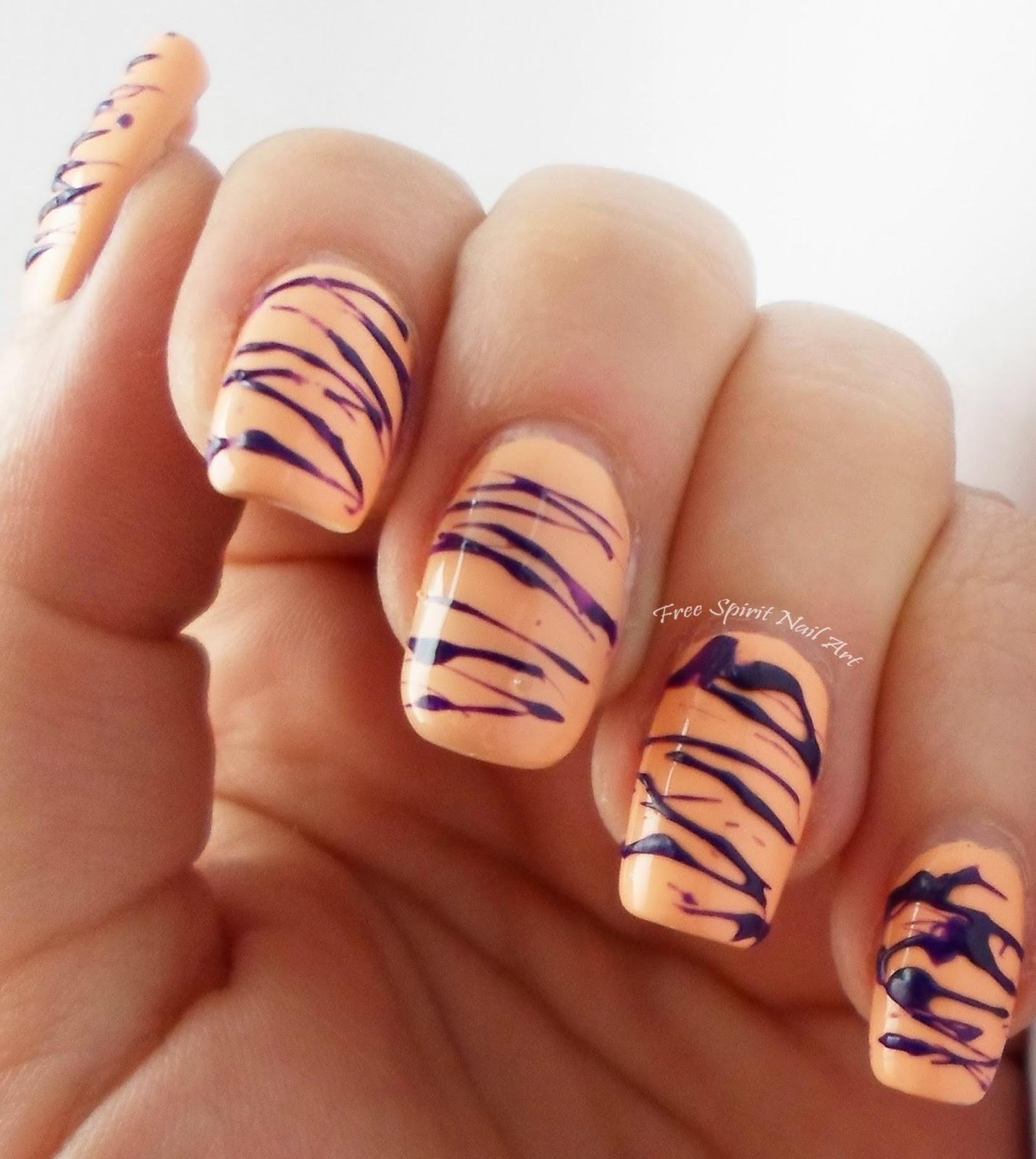 Free Spirit Nail Art Spun Sugar Mani Nail Art And A Quick Review