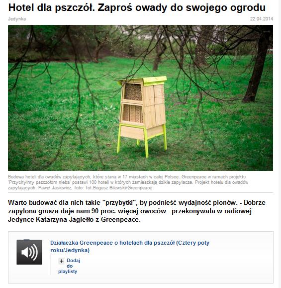 http://www.polskieradio.pl/7/163/Artykul/1106114,Hotel-dla-pszczol-Zapros-owady-do-swojego-ogrodu
