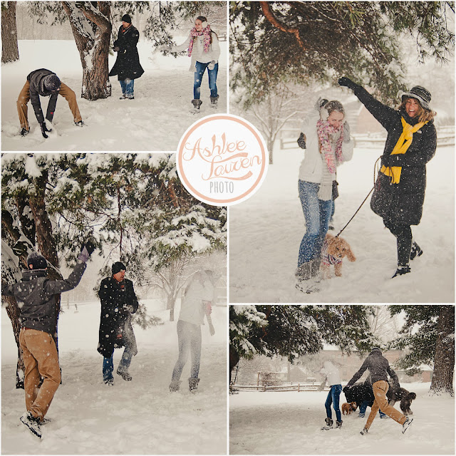 snowball fight at a for wayne photogapher's outdoor photography session with mom, dad, brother, sister, and dogs. lots of snow and lots of fun in these photos.