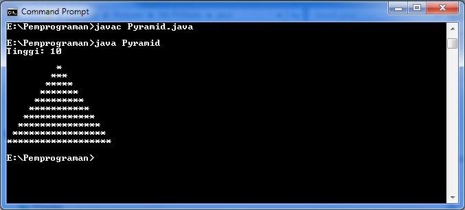 Membuat Program Pyramid Dengan Java