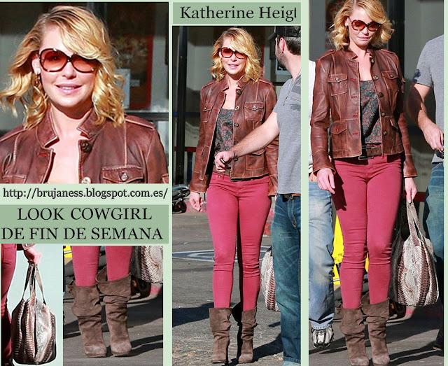 Katherine Heigl actriz de Anatomía de Grey saliendo de un restaurante en New York noviembre 2012 sen on famosas que me pongo combinar