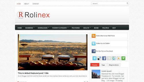 Download Template Magazine | Rollinex