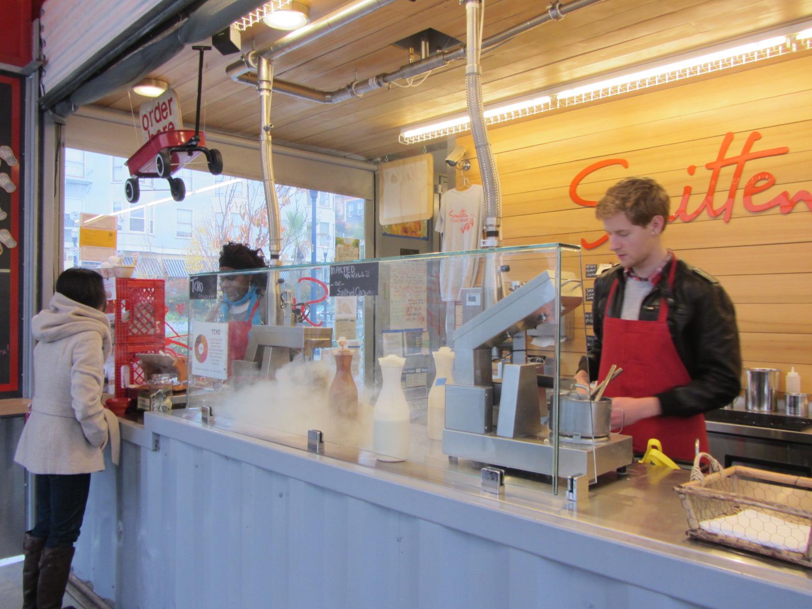 Smitten Ice Cream san francisco: smitten ice cream