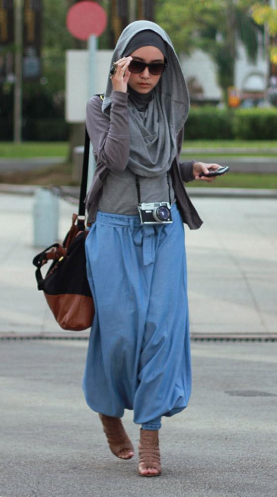 model baju gamis jeans