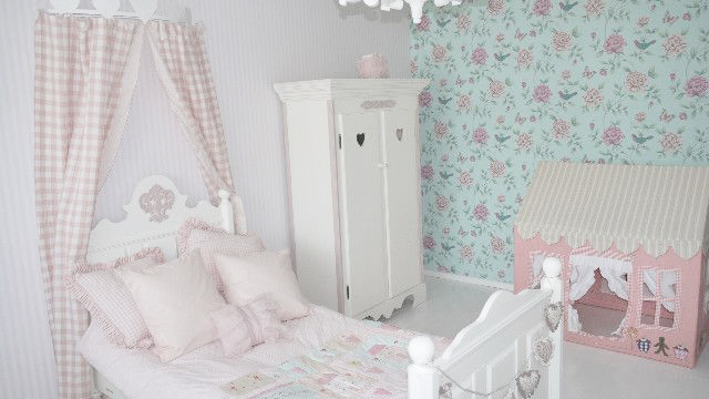 Old new pink and blue roze prinsessenkamer - Roze kleine kamer ...