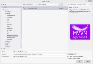 Getting Started with Windows 8, MVVM Light and EventToCommand