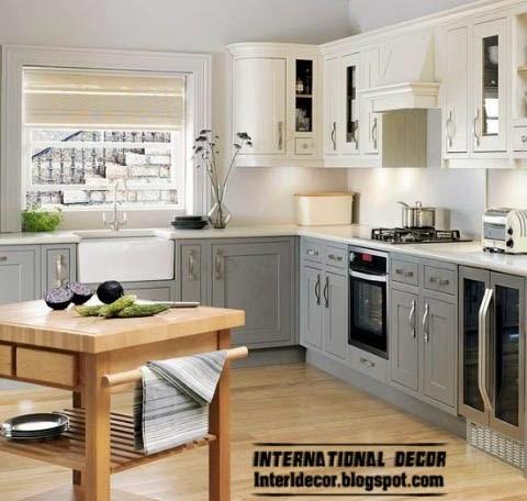 7 smart designs of l shaped kitchen for Classic white kitchen designs