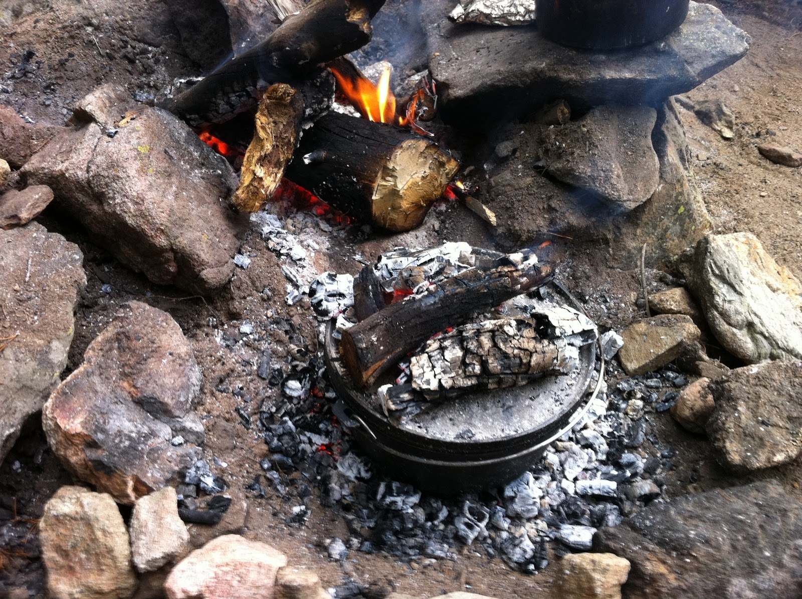 Derek on cast iron cast iron recipes article campfire for How to cook in a dutch oven over a campfire