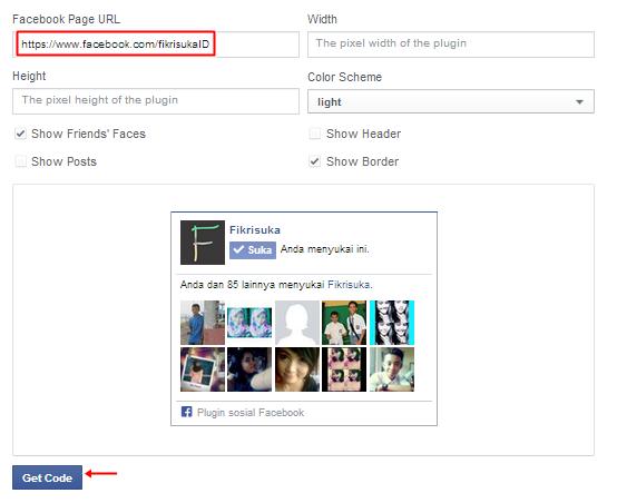 Cara Mendapatkan Kode Like Box Facebook