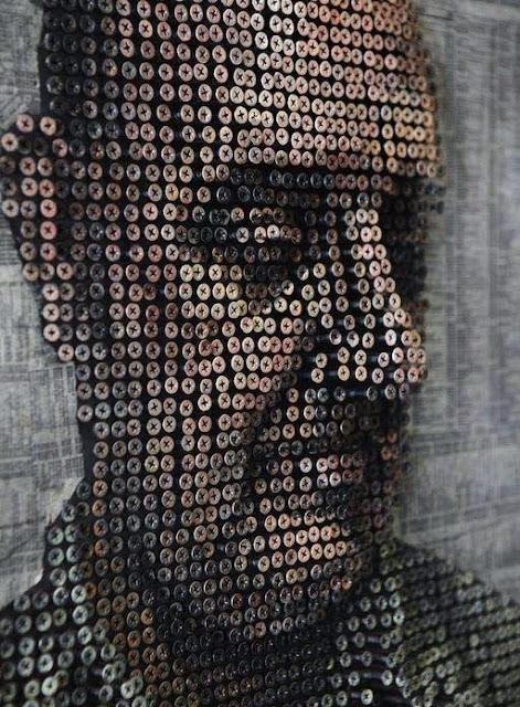 فن رسم الوجوه بالمسامير