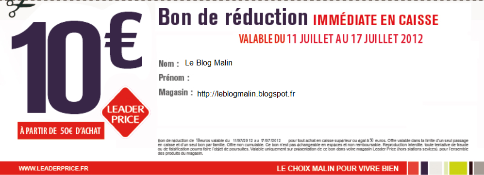 Le blog malin juillet 2012 - Bon de reduction atylia ...