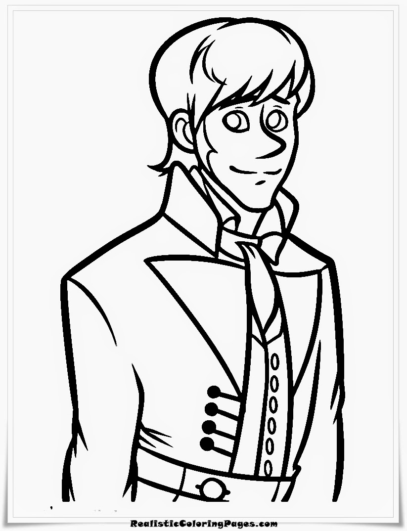 frozen coloring pages hans face