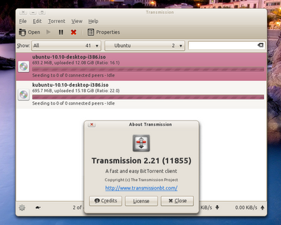 Installing Transmission 2.21 in Ubuntu
