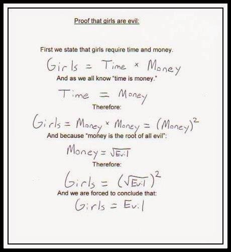 Funny Mathematical Proof That Girls Are Evil