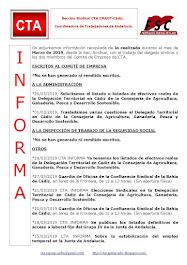 C.T.A. INFORMA, LO REALIZADO EN MARZO DE 2019