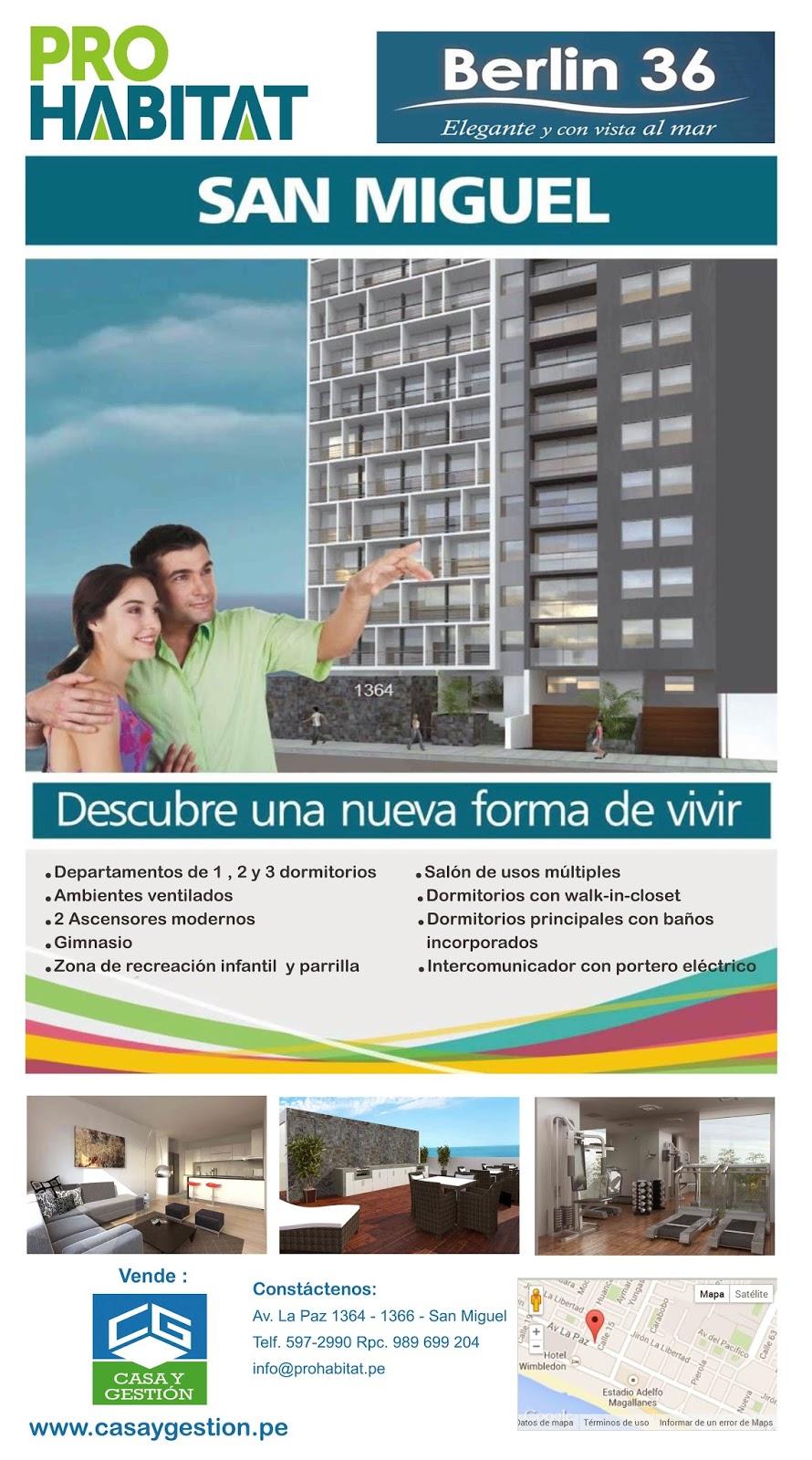 Baño Discapacitados Unit:BERLIN 36 está ubicado en la Av La Paz en San Miguel y se acoge al