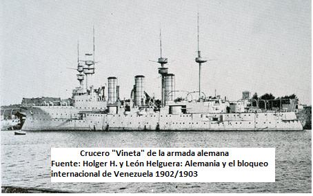 Situación bélica venezolana del S.XX BUQUE+ALEMAN+VINETA