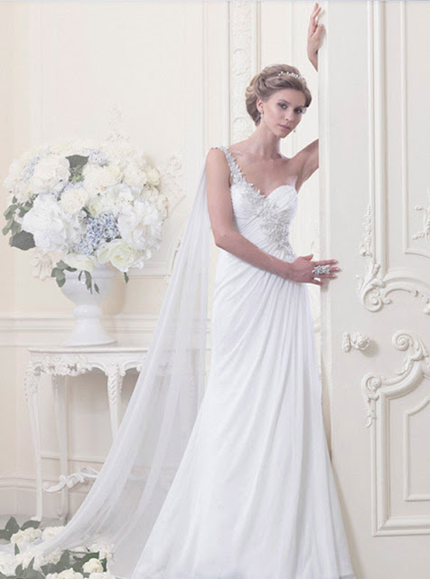Ellis wedding dresses 2013 lace one shoulder