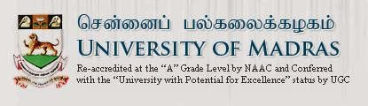 Madras University Degree, PG Results April 2014