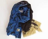 code promo foulard laine gris bleu