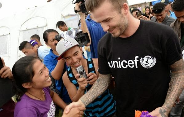 David Beckam cheers Tacloban City survivors of Yolanda