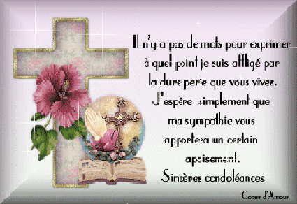 texte de condoleances pour une amie