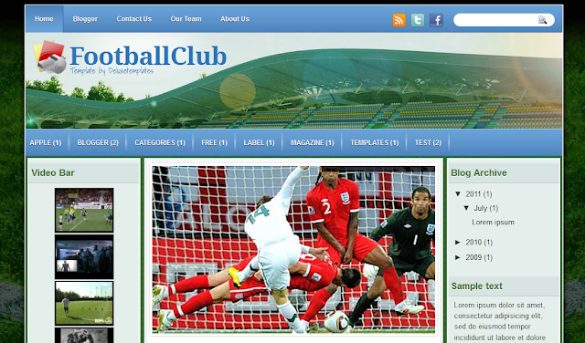 Football Blogger Template