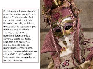 historia das mascaras de carnaval