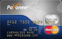 شرح التسجيل وطلب الحصول على بطاقة Payoneer MasterCard مسبقة الدفع وشرح تفعيلها بعد إستلامها