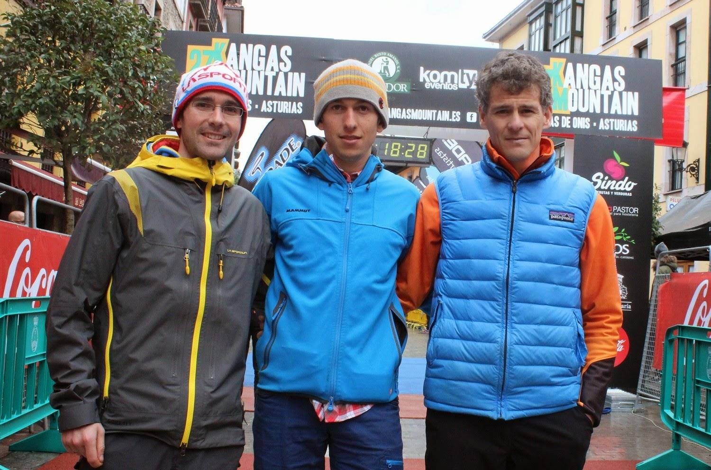 David López Castán, Manuel Merillas y Fran Piñera, podio de la 27 Kangas Mountain 2015. /TRAILCYL