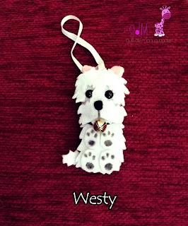 Perro-westy-fieltro