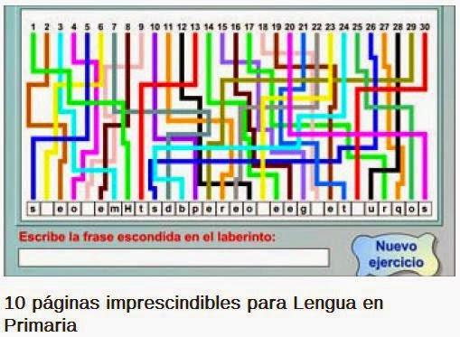 http://www.educaciontrespuntocero.com/experiencias/10-paginas-imprescindibles-para-lengua-en-primaria/12325.html