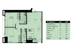 Celadon Park Manila Two Bedroom Unit Plan