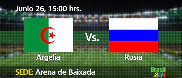 Partido Argelia vs Rusia