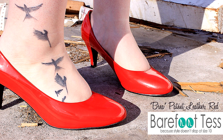 Barefoot Tess Patent Leather Pumps in Red on Long Tall Sally #FashionistaEvents #ad