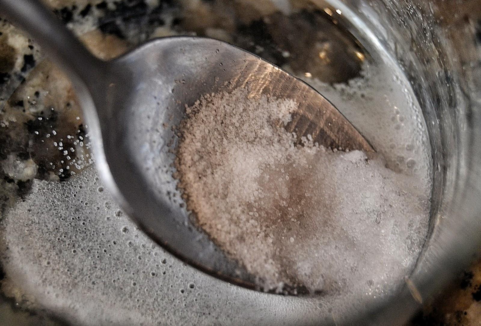 bicarbonato y vinagre