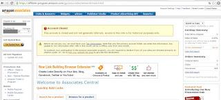 заблокированный аккаунт в партнёрской программе Amazon